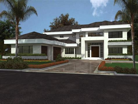 modern house with plan design modern house plans 3d