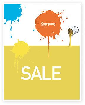 Yellow Paint Sles | yellow paint sale poster template in microsoft word