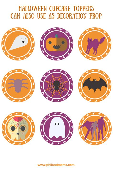 printable halloween stencils for cupcakes free printable halloween cupcake toppers
