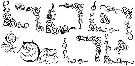 vintage design elements corners vector free download free antique vector swirl elements photoshop graphics