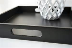 Black Serving Tray For Ottoman Black 16 X 16 Square Serving Tray Ottoman Tray Wood Coffee