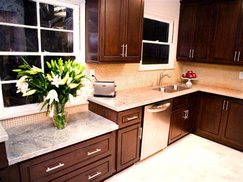 dark cabinets light countertops photos hgtv
