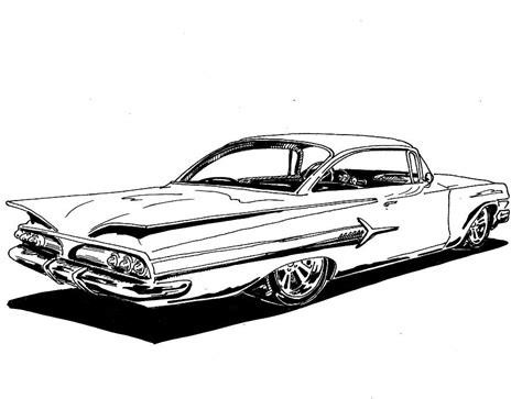 coloring pages lowrider cars lowrider cars impala drawings images pictures becuo