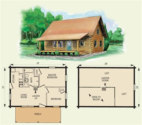 small cabin floor plans design house plan and ottoman