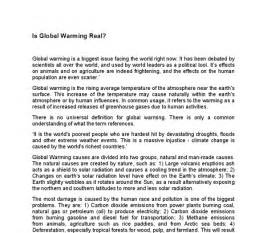 Is Global Warming Made Essay by Accueil