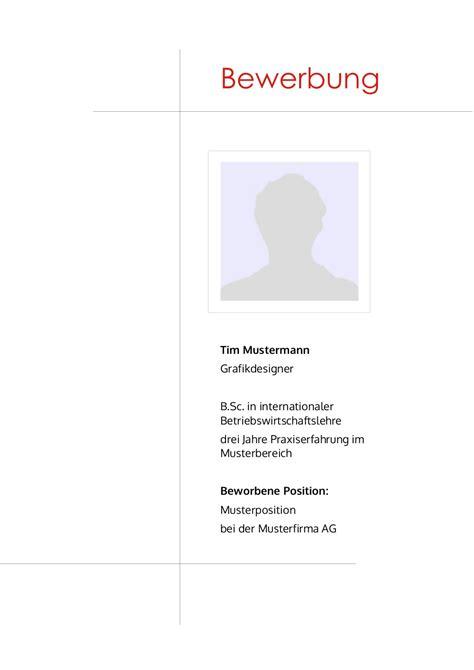 Deckblatt Design Vorlagen bewerbung deckblatt muster vorlage 12 lebenslauf designs