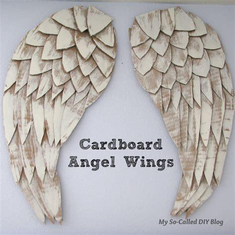 My So Called DIY Blog: Angel Wings From Cardboard