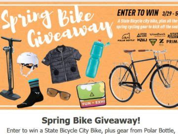 The View Spring Cash Sweepstakes - polar bottle spring bike giveaway sweepstakes