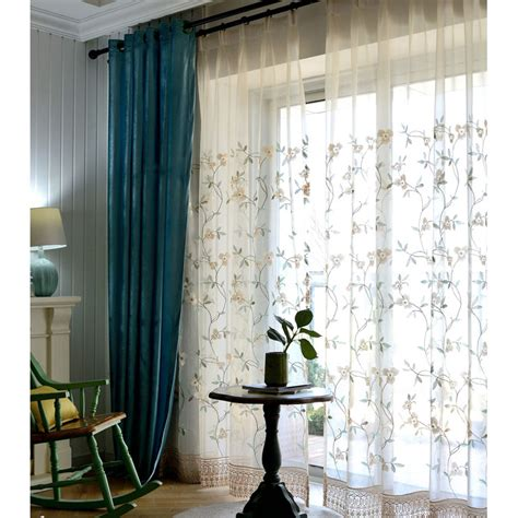 beautiful beige flower pinch pleated sheer curtains