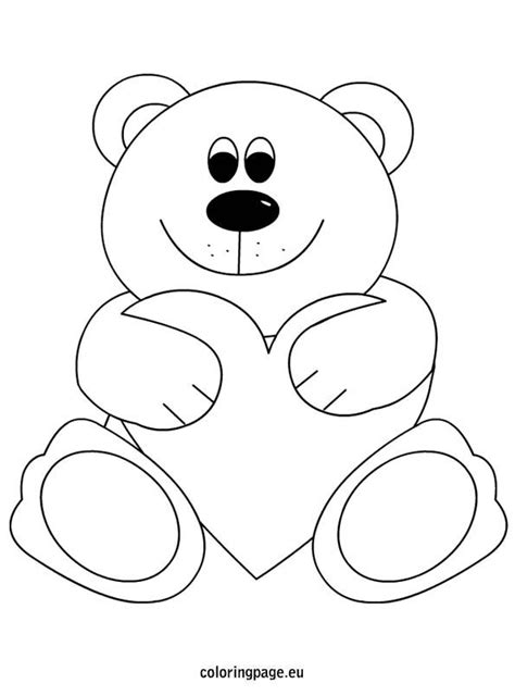 coloring pages of teddy bears with hearts teddy bear heart coloring page mother s day pinterest