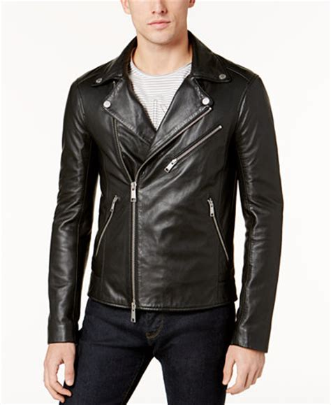 mens moto jacket armani exchange s leather moto jacket coats