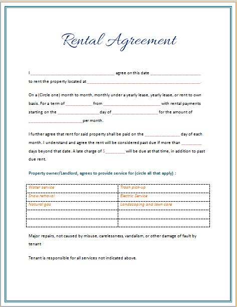 best month to sign a lease rental agreement template 2015 microsoft word templates