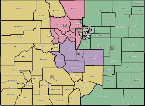 colorado state house of representatives colorado congressional districts map for united states congress