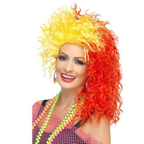 cyndi lauper wig ladies 80 s fun girl crimp wig cyndi lauper fancy dress