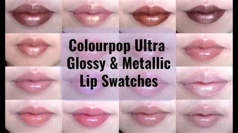 Colourpop Ultra Glossy Lip Nonssnzs colourpop ultra glossy and metallic lip swatches