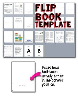 Editable Flipbook Template For Interactive Notebook Commercial Use Allowed Flip Book Templates For Teachers