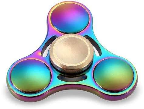 Top Fidget Spinner Spinner Toys Original Metal 3 Side montez rainbow triangle ufo metal fidget spinner