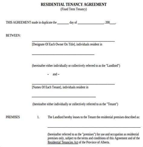 sle residential lease agreement template residential tenancy agreement template word 28 images