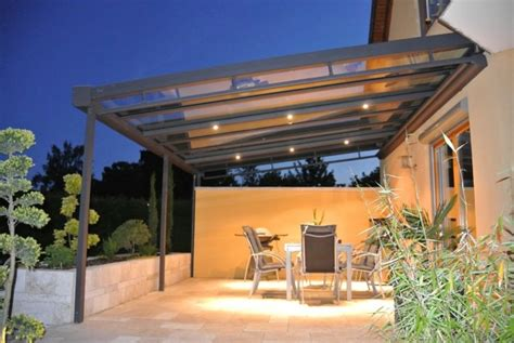 alu terrasse toiture transparente pour terrasse avec cadre en aluminium