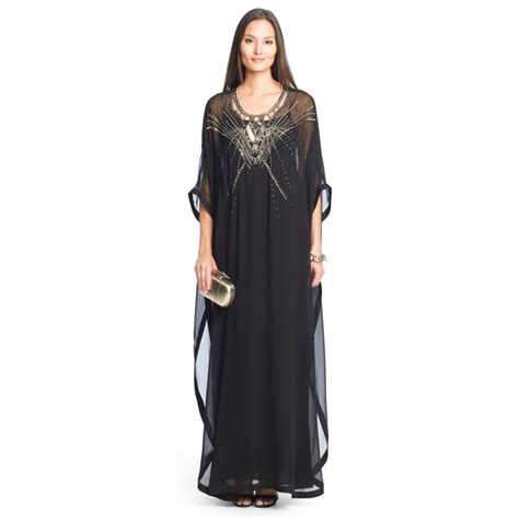 chiffon kaftan dress diane furstenberg clare beaded