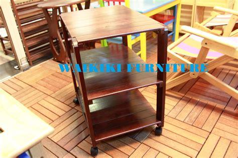Rak Serbaguna Kayu Solid Mahony jual rak troli kayu solid wood wow furniture