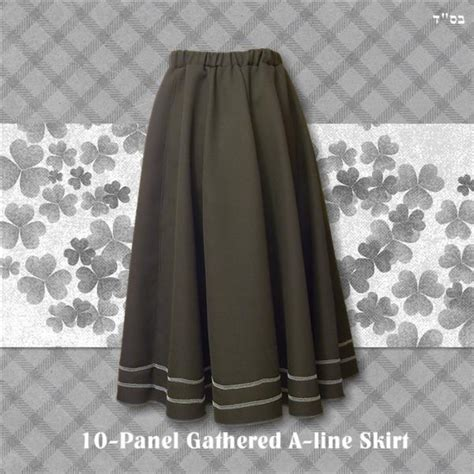 pattern for a line skirt with elastic waist 10 panel skirt elastic a line modest midi maxi