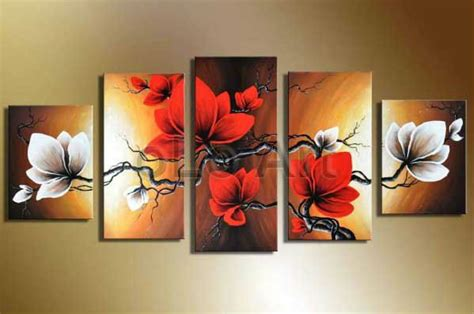 black art home decor oil painting on canvas home wall art decoration modern red
