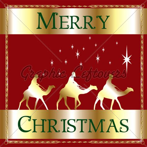 merry christmas red wisemen gl stock images