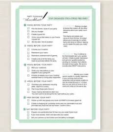 Party Planning List Template 11 Free Printable Party Planner Checklists Tip Junkie