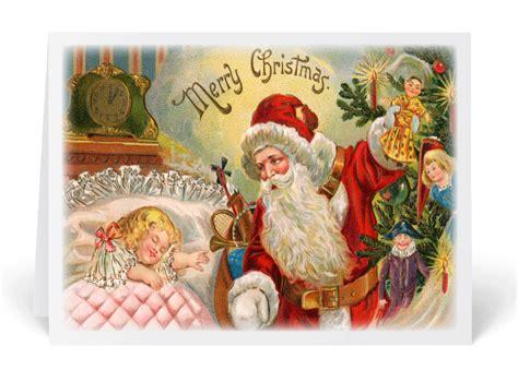 printable victorian christmas cards vintage victorian santa christmas cards 36055 ministry