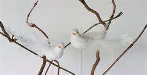 oiseaux colombes artificielles en plumes x 12 oiseaux