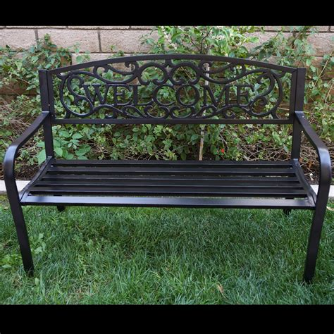 bench terrace design new 50 quot inch outdoor garden bench patio furniture welcome
