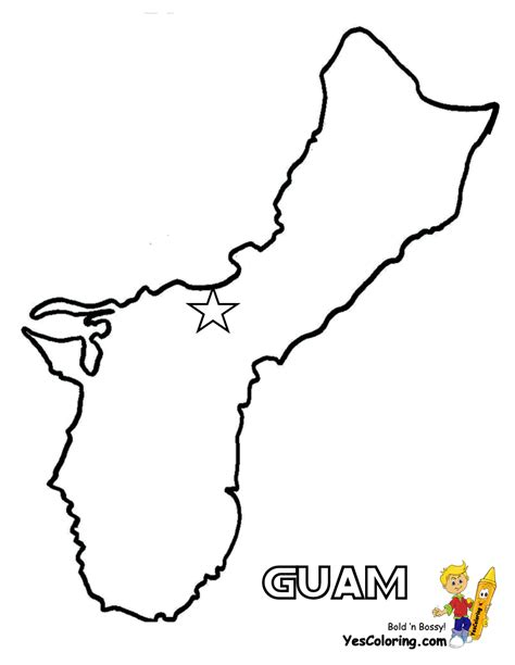 printable road map of guam free map for guam coloring picture at yescoloring com