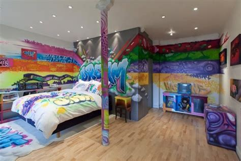graffiti bedroom 25 cool graffiti wall interior ideas house design and decor