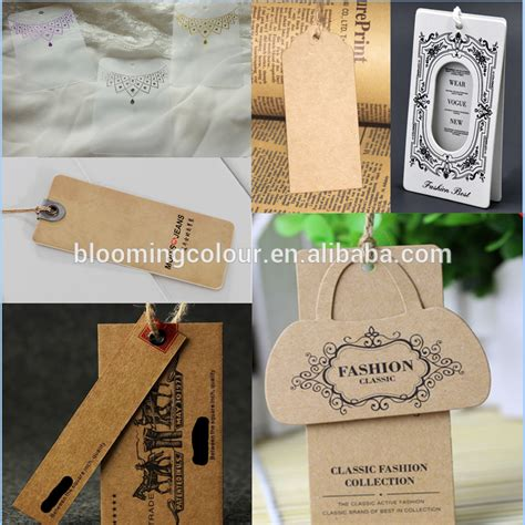 Anting Tapres 2015 factory sale brand paper tag custom made sale hang tag with string buy brand paper