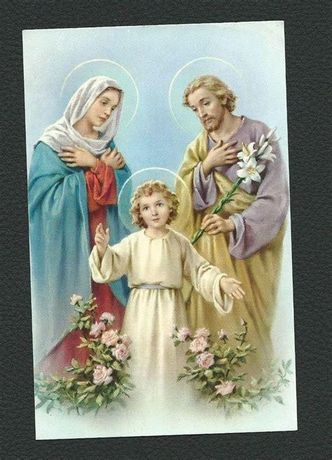 holy family cards holy card holy family image ebay