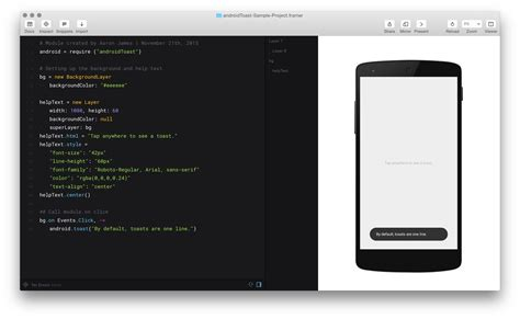 toast android imaaronjames simple android toast use this module to easily add android toasts to your framer js