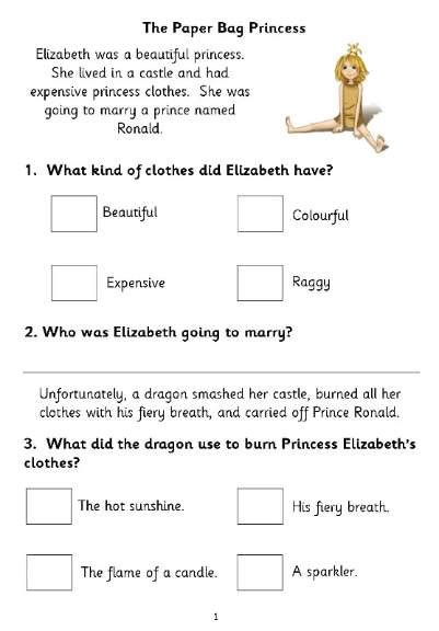 reading comprehension test ks1 eyfs ks1 ks2 sen ipc literacy sats reading