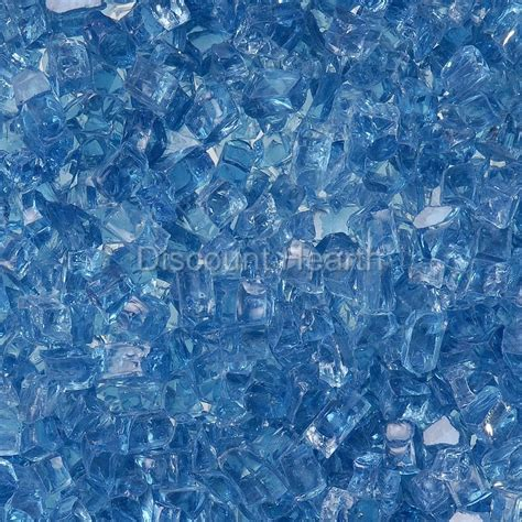 pit crystals arctic blue 1 4 quot 1 120 lbs fireglass glass pit fireplace crystals ebay
