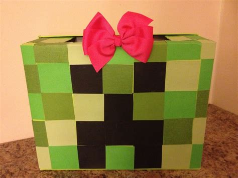 minecraft s day box minecraft creeper box made by emily it s a