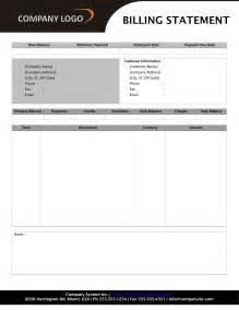 billing forms templates free billing statement form template