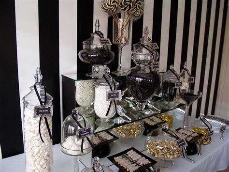 Black And White Buffet Black White Buffet Deco Gatsby Wedding