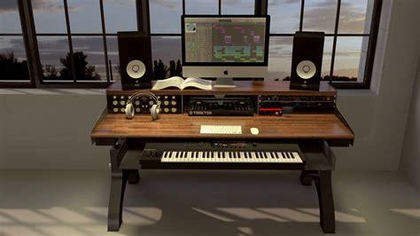 A Desk In by Hure Recording Studio Keyboard Desk Model Hu76