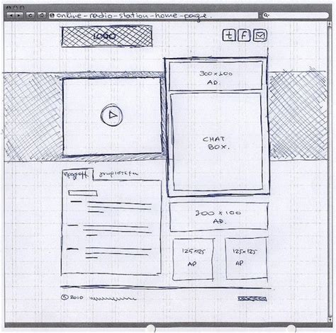 Sketches And Wireframes by 20 Exles Of Web And Mobile Wireframe Sketches