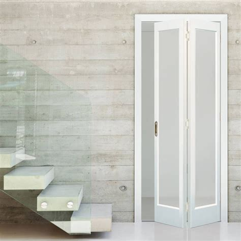 Glass Bifold Closet Doors Glass Bifold Doors Interior Bifold Door Marston White Primed Bi Fold Frosted Safety Glass