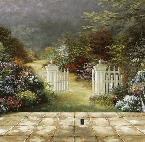 garden wall murals pin by amanda sherfey on teaching room decor