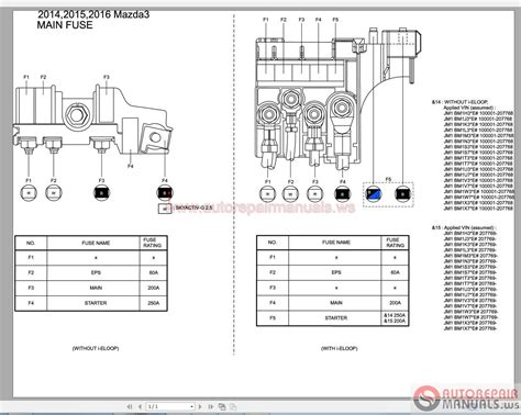 mazda 3 2015 2 4l wiring diagrams auto repair manual