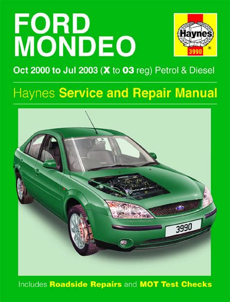 haynes manual ford mondeo petrol diesel oct 2000 jul 2003