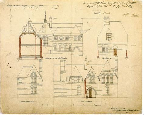 Victorian Mansion Blueprints architectural drawings for the red house by philip