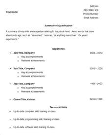 free easy resume templates simple resume template 39 free sles exles